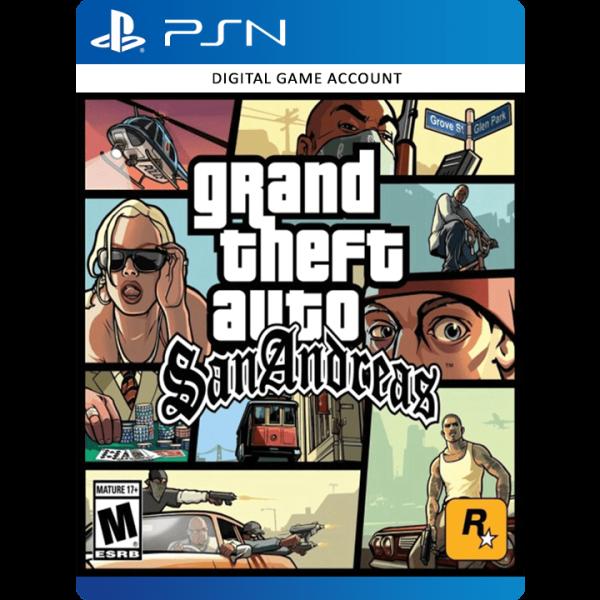Grand Theft Auto San Andreas PSN Account